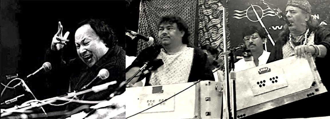 Nusrat Fateh ali Khan and Sabri Brothers