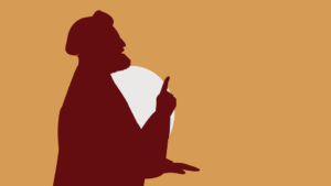 Muslim man shadow