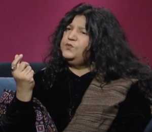 Abida Parveen explaining to her listeners