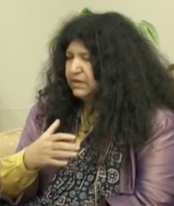 Abida Parveen with closed eyes