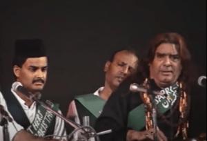 Ghulam with son Amjad Sabri