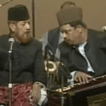 Farid in performance with Father Munshi Raziuddin