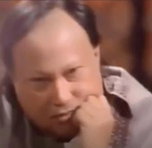 Listening to Fateh Ali Khan, Nusrat gets emotional